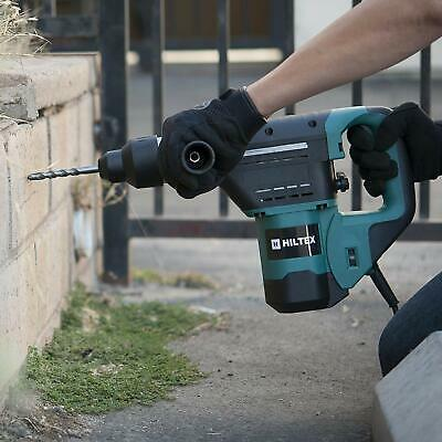 Demolition Jack Hammer Electric Concrete Breaker Punch 2 Chisel Bit Drill Case