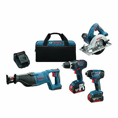 Bosch 18-Volt 4-Tool Combo Kit CLPK420-181 with Charger, 2 Batteries (4.0 Ah... (Bosch Clpk420 181 18v 4 Tool Combo Kit)