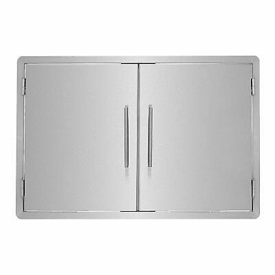AdirHome 33 in. Stainless Steel Outdoor BBQ Grill Double Access Door