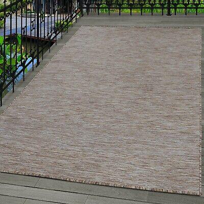 Sisal Teppich Flachgewebe Uni Naturoptik Braun Beige Crem meliert indoor/outdoor ()