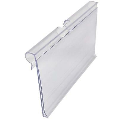 80 Pcs Clear Plastic Wire Shelf Price Label Sign Clip Holder