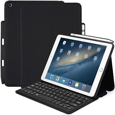 Apple iPad 9.7 2018 / 2017 Bluetooth Keyboard Victim With Pen Holder Stand Cover