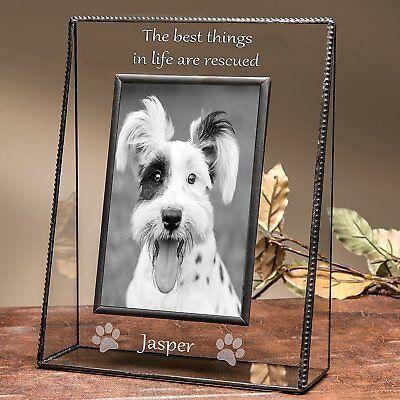 J Devlin Pic 319-46V EP594 Personalized Vertical Engraved Dog Picture Frame 4x6  (Dog Picture Frame Vertical)