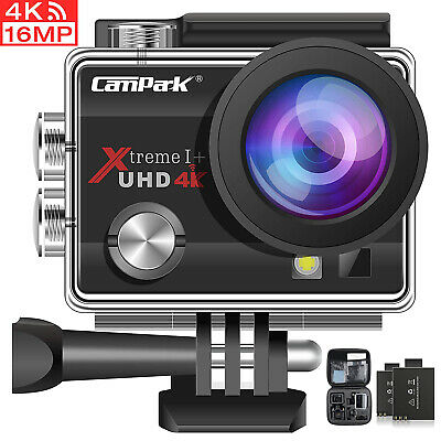 Campark ACT74 Action Camera 4K 16MP WiFi Sports Cam Underwater 30M DVR Camcorder