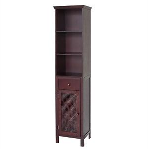 linen cabinet bathroom storage shelve organizer bath towel tower shelf