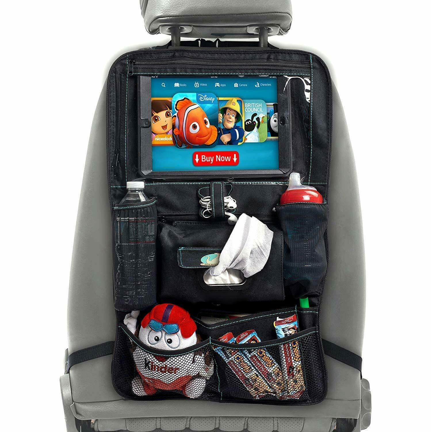 Car Seat Organizer for Kids – Car Seat Back Protector with