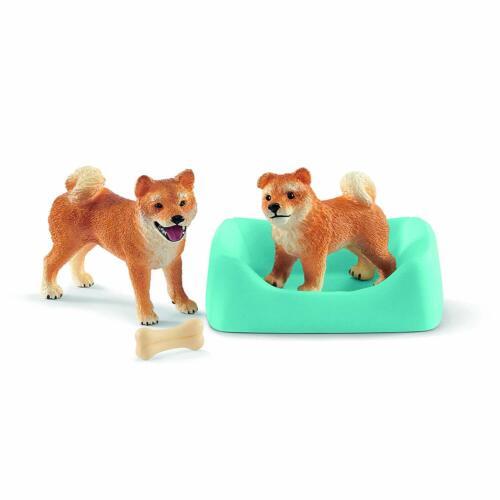 Schleich 42479 Shiba Inu Mother and Puppy Dog Toy Set Model 2019 - NIP