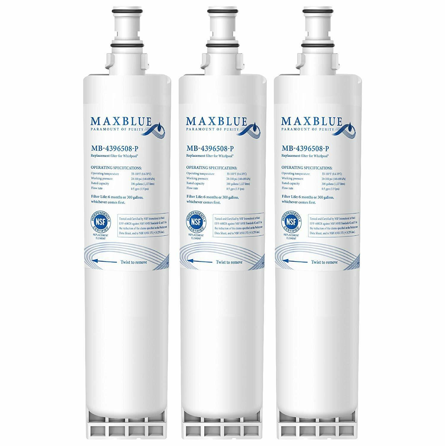 1-3Pack Refrigerator Water Filter Replacement for Whirlpool water sentinel  WSW-1