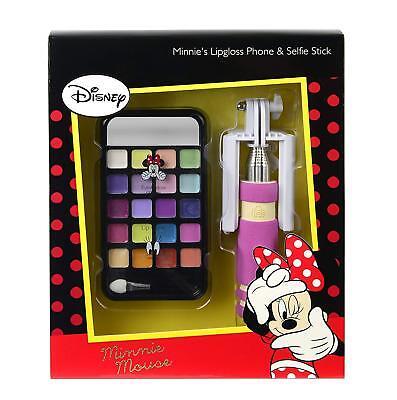 Disney Minnie Mouse Make Up Phone & Selfie Stick Little Girl Beauty Set!