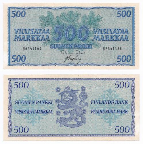 Finland, 500 Markkaa 1956, Pick 96a, aUNC