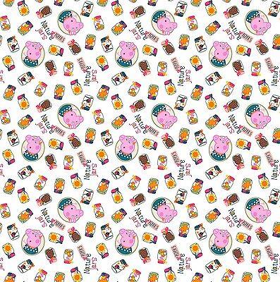 1 yard Nickelodeon Peppa Pig Nature Jars Fabric