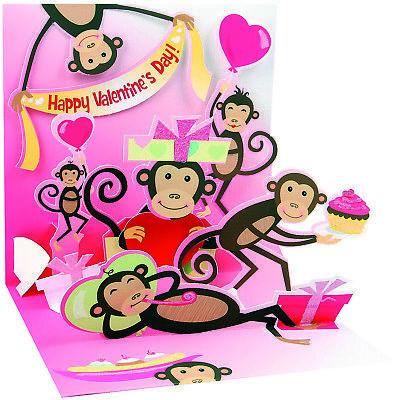 ine's Day Card for Kids   Keepsake   Popup Display Card 5x5 (Valentines Day Cards For Kids)