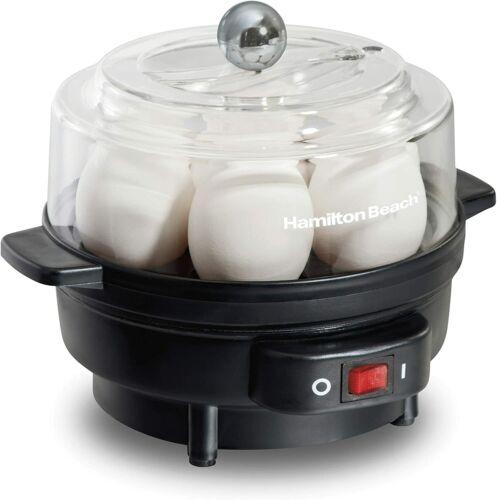 Electric Egg Cooker Boiler 7 Eggs Hard Boiled w/ Poacher Steamer Stainless Steel