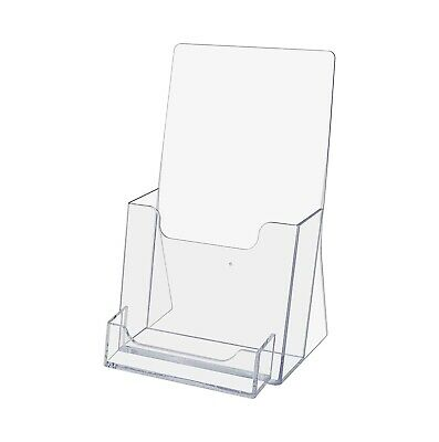 2 Pc - Trifold Brochure Holder With Business Card Stand Display Pocket Take One