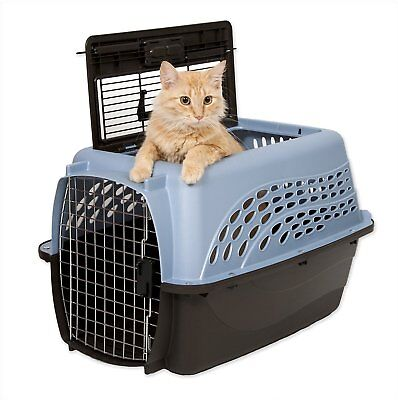 Petmate Medium 2-Door Top Load Pet Kennel Blue Animal Dog and Cat Carrier Crate