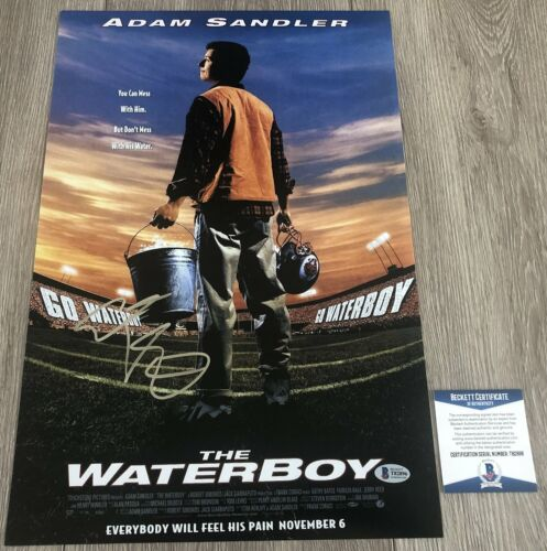 ADAM SANDLER SIGNED THE WATERBOY 12x18 PHOTO w/EXACT PROOF & BECKETT BAS COA