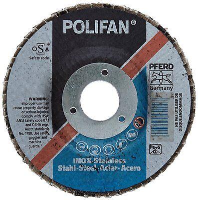 PFERD Polifan SG Abrasive Flap Disc, Type 29, Round Hole, Phenolic Resin Backing