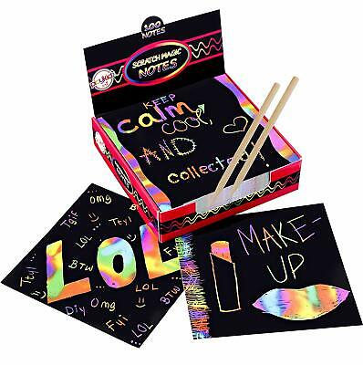 Magic Kits For Adults (Scratch Art Kit – Magic Scratch Off Notes & [2] Stylus Tools for Kids &)