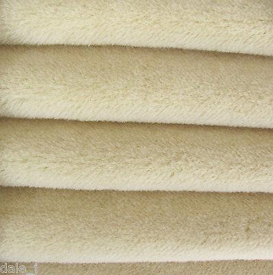 "1/6 yd ALP7S Cream INTERCAL 3/8""+ Medium Dense German Alpaca Blend Fur Fabric"