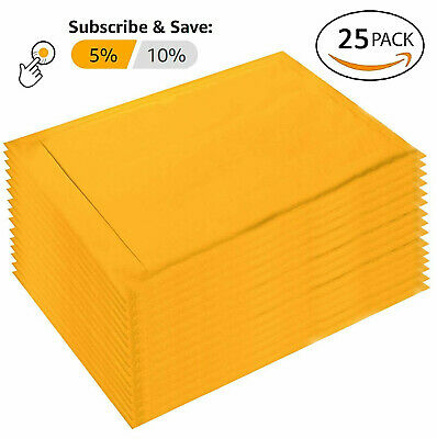 25 0 6x10 Kraft Paper Padded Bubble Mailers Envelopes Shipping Case Bags 6x9