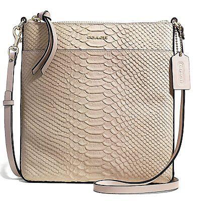 Coach Madison Bond Leather North South Blush Swingpack Crossbody Bag 50829