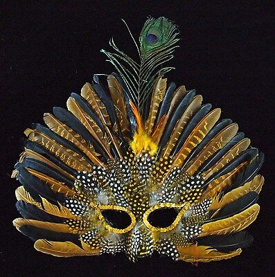 Feather Mask Broadway YOUR COLOR CHOICE Mardi Gras New Orleans Halloween Prom (Halloween Mask Coloring)