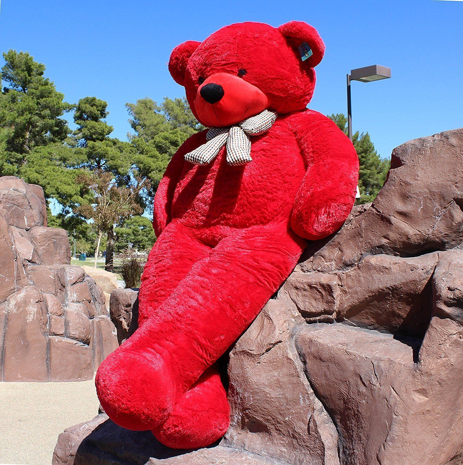 "Joyfay® Giant Teddy Bear 78"" 200cm Red Stuffed Plush Toy Valentine Gift"