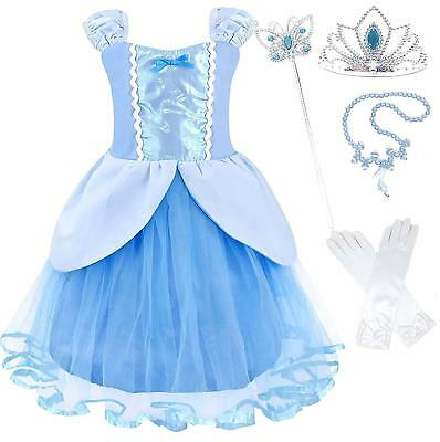 Princess Party Costume Dress-up Sets (Cinderella,Rapunzel,Ariel,Snow White)