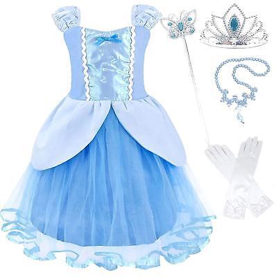 Princess Ariel Dress (Princess Party Costume Dress-up Sets (Cinderella,Rapunzel,Ariel,Snow)