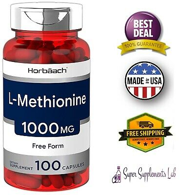 - L-METHIONINE 1000 mg 100 Capsules Support Health Liver Function & Detoxification