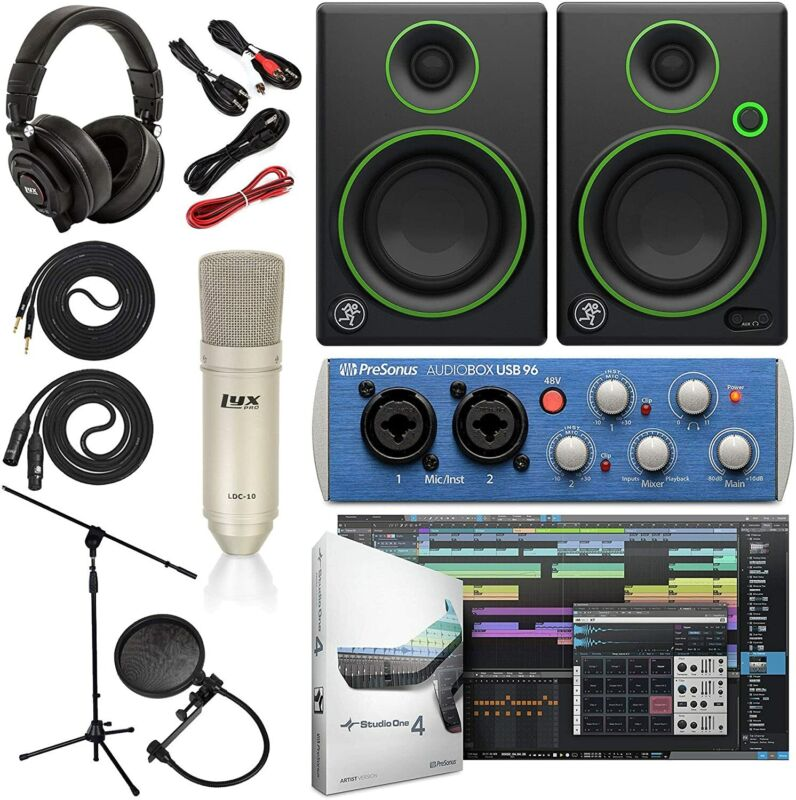 Presonus AudioBox 96 Audio Interface Complete Studio Bundle
