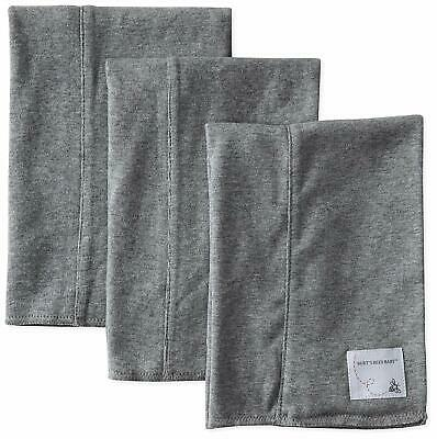 BURT'S BEES BABY BURP CLOTHS EXTRA ABSORBENT 100% ORGANIC COTTON GRAY PACK OF 3