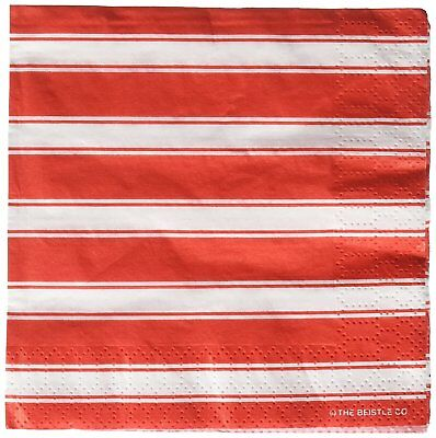 Red White Stripes Carnival Circus Theme Birthday Party Paper Beverage Napkins](Red Birthday Theme)