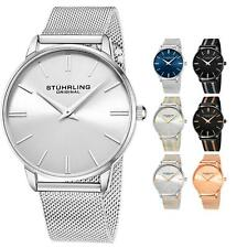 Stuhrling Men's 3998 classic Minimalist Design Japan Movmnt Mesh Bracelet Watch