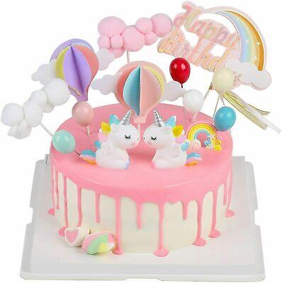 Tortendeko Geburtstag, Cake Topper Einhorn Tortendekoration kuchendeko, 14er
