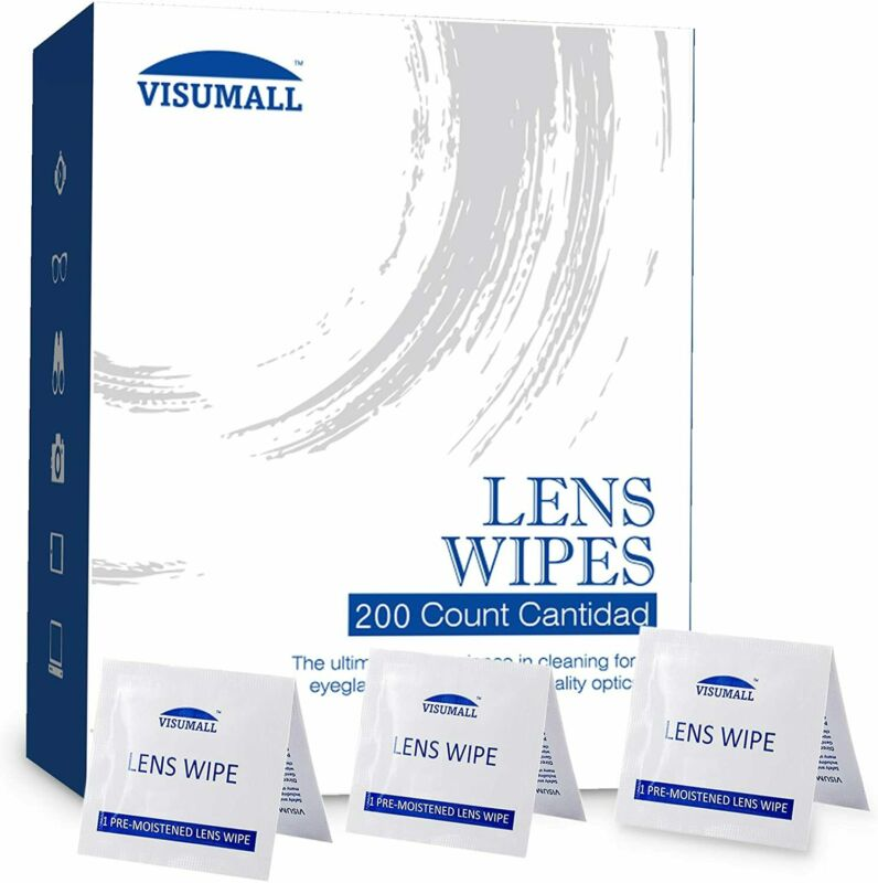 100 200 Optical Lens Cleaning Wipes Glasses Phone Screen Camera Keyboard Cleaner