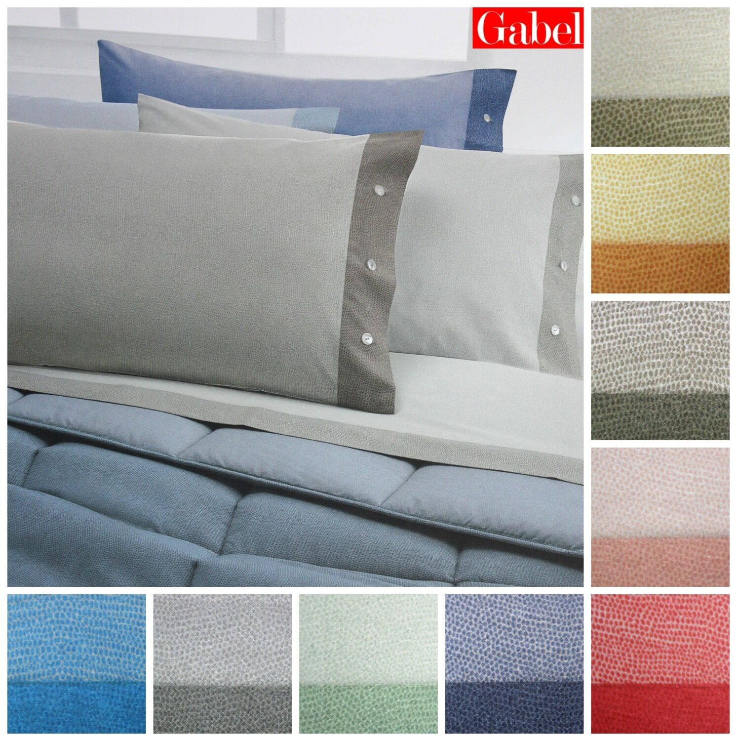 Gabel 2 Squares Double Full Bed Flannel Sheets Sirocco 12393