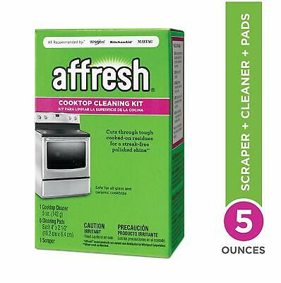 Affresh W11042470 Cleaning Kit (Cooktop Cleaner, Scraper and Scrub Pad)