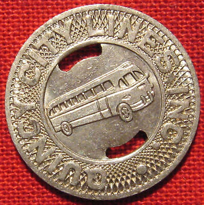 SCARCE Quincy City Illinois Bus Transit Token 1950s IL-720i whotoldya Lot 6510