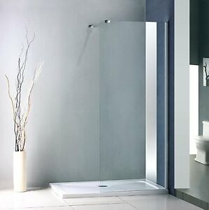 Walk in shower enclosure tray 1300mm x 900mm glass panel for Walk in shower tray