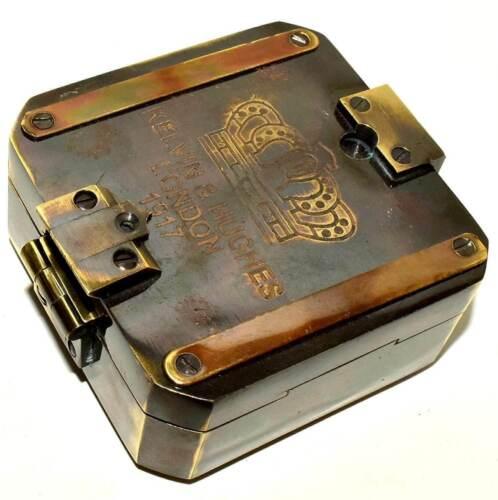 Vintage Brass Compass Kelvin & Hughes London 1917 Compass Marine Nautical Style