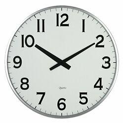 Lulu Decor, 18 Slim Round Wall Clock, Modern Sleek Design only 0.75 Thick