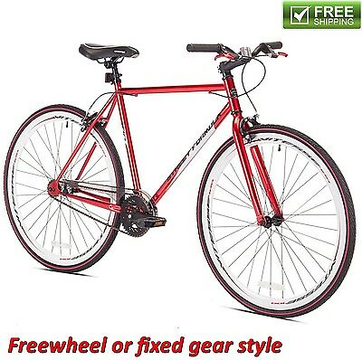 Kent Fixie Bike 700C Red Men's Flip Flop Hub Cruiser City