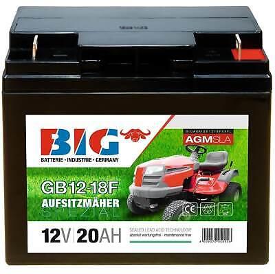 Rasentraktor Aufsitzmäher Batterie AGM 12V 20Ah ersetzt 18Ah Rasenmäher