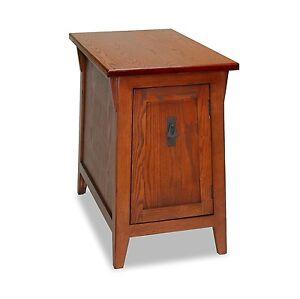 Superbe Leick Furniture 10032 RS Favorite Finds Mission Cabinet End Table Russet