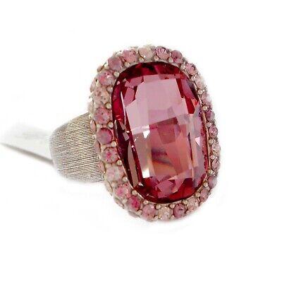 "Brighton ""Contessa"" Large Pink Swarovski Crystal Ring - Size 9 - NWT"