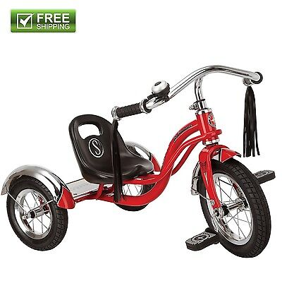 "Schwinn Roadster Trike Red Toddler 12"" Sturdy Retro Style Tr"