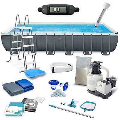 INTEX 26364 Ultra Frame Swimming Pool 732x366x132 cm mit Schutzschalter