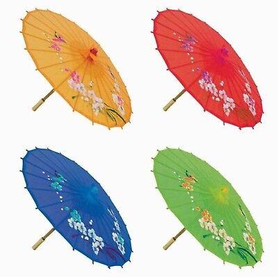"""""""Assortment or six (6) 21"""""""" Small Asian Silk Umbrella / Parasol"""""""