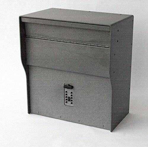 Oswego Mailbox with Push Button Lock (Stone Grey)